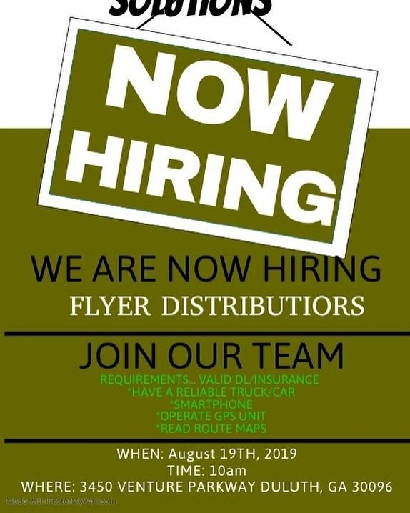 Now Hiring Drivers Independent Contractors Flyerdistribution