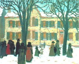 Lawren Harris - Return From Church, limited edition paper