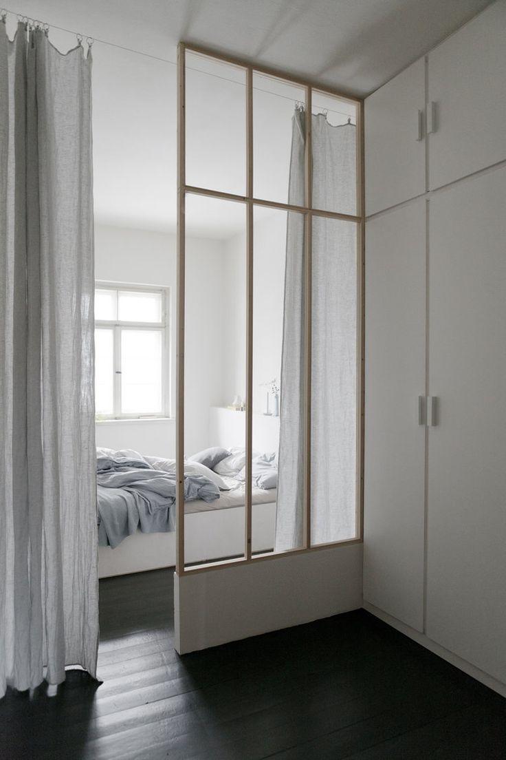 dividing wall, bedroom, built in wardrobe   studio oink