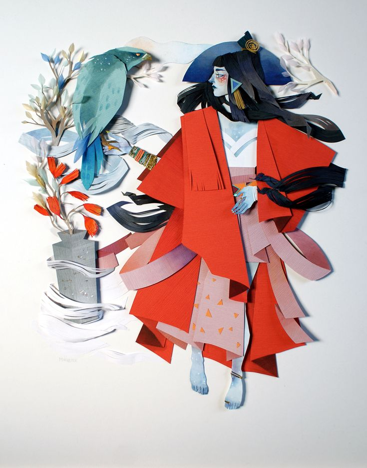 Textured Cut Paper Illustrations by Morgana Wallace Depict Scenes ...
