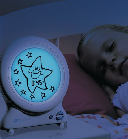 Gro-clock, teach your toddler to stay in bed til am, double ups as a night light. My 2 year old is starting to learn via hers.