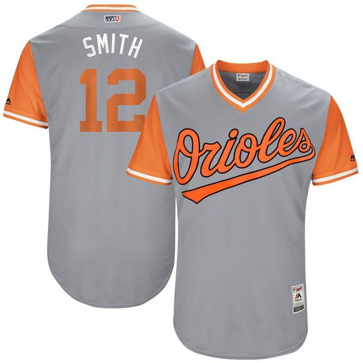 "Seth Smith ""Smith"" Baltimore Orioles Majestic 2017 Players Weekend Authentic Jersey - Gray"