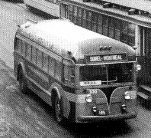 Provincial bus, Montreal, 1933.