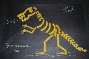 pasta dinosaur skeleton Tyrannosaurus Rex