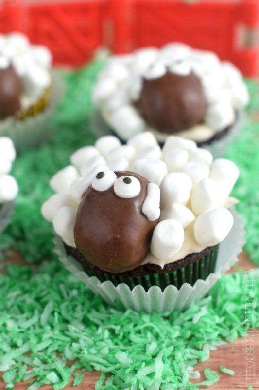 Receta de Cupcakes con Forma de Ovejita