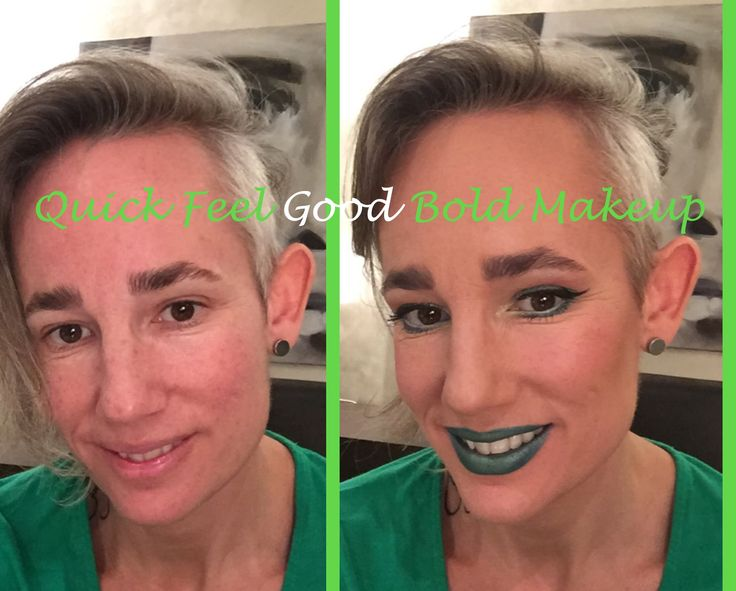 Quick feel good green bold makeup for the heck of it