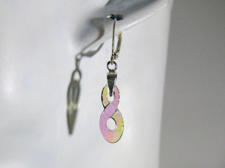 Infinity Ohrhänger Anhänger Kristall Charm Symbol Ohrringe Farbwahl Kristall Unendlichkeit Anhänger Hängeohrringe Hochzeit Geschenk Braut von RSSchmuckwelt auf Etsy