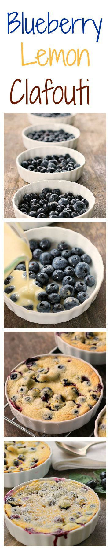 Blueberry Lemon Clafoutis The flavors of blueberry and lemon pop in your mouth in this very easy delicious French dessert. Made with cream cheese in the batter, the texture is lovely!