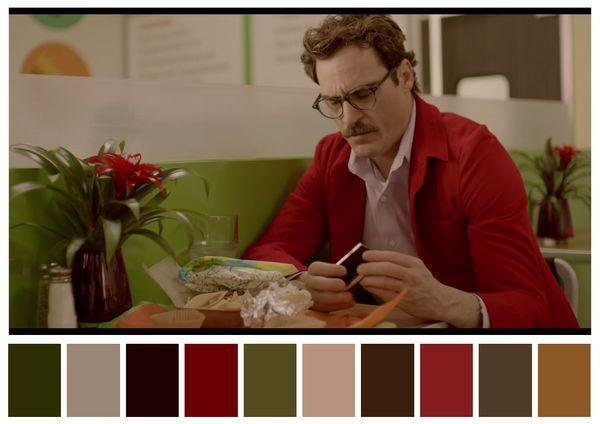 Visualize as lindas paletas de cores do cinema