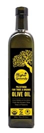 Palestinian Fair Trade olive oil. I think we always associate olive oil with Europe, where FT isn't as necessary as it is in the southern hemisphere and in the East. But this Palestinian olive oil is made in the middle-east, supporting a healthy, environmentally-friendly market!
