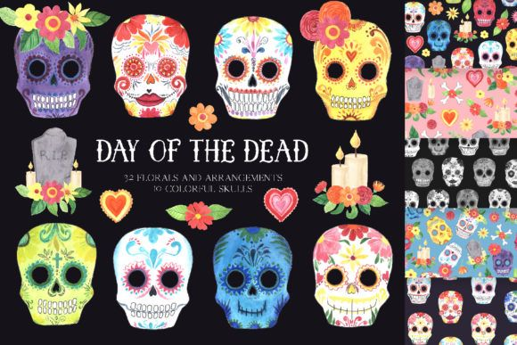 25+ Mexican Day Of The Dead Clipart