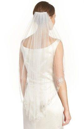 Brides & Hairpins Marina Embellished Veil, Size One Size - Ivory