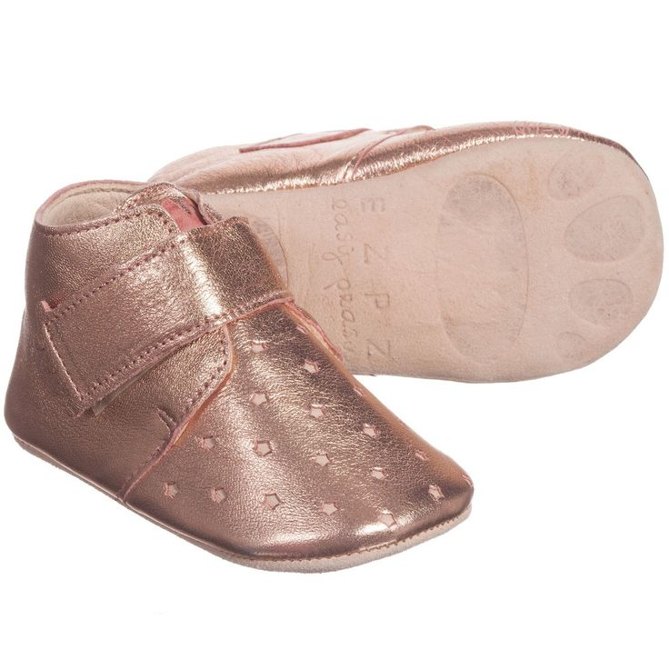Pink Metallic Leather 'Kiny' Pre-Walker Shoes, Easy Peasy, Girl