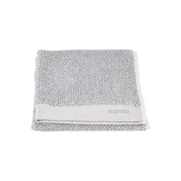 Meraki Handdoek Set van 2 Wit/Grijs - 40 x 60 cm - afbeelding 1