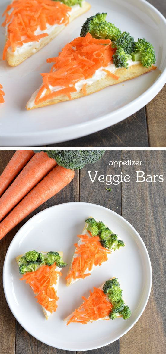 Veggie Bars | Easy Easter Appetizers for a Crowd | Easy Easter Food Ideas + Recipes