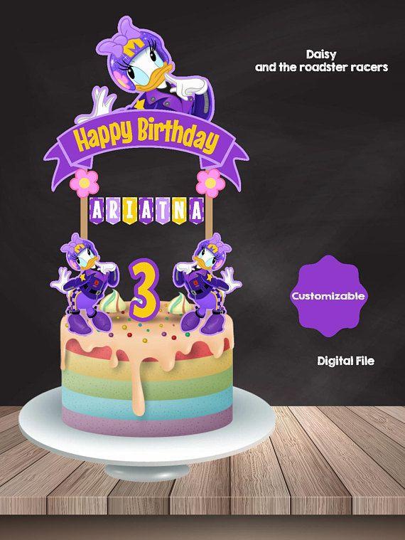 Daisy Cake Topper Daisy Duck Cake Topper Daisy Birthday