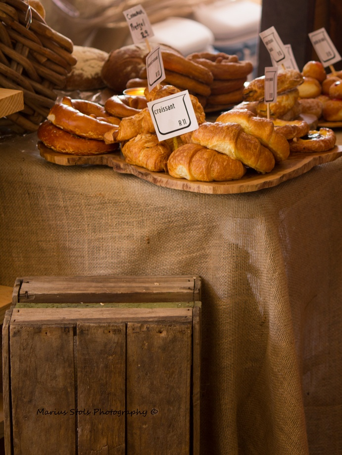 Fresh bread at a local market