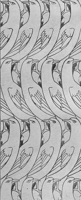 Charles Francis Annesley Voysey 1896 by Design Decoration Craft, - IT'S ANGRY BIRDS DUDE!!!!