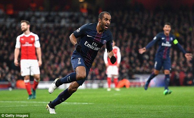 But PSG recovered to take top spot after Lucas Moura's header took a deflection off Alex Iwobi