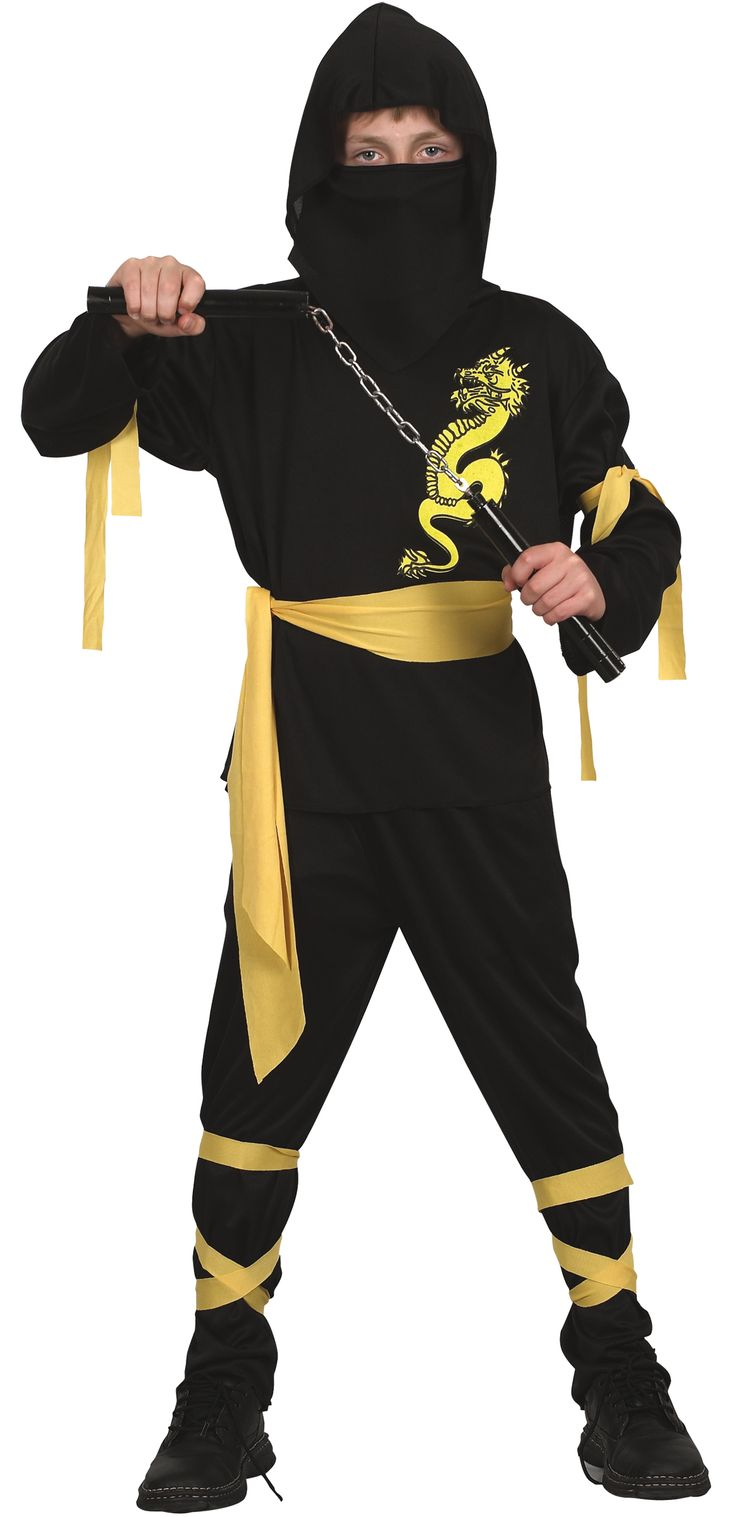 Ninja costume - this works perfect for my son's halloween costume this year!