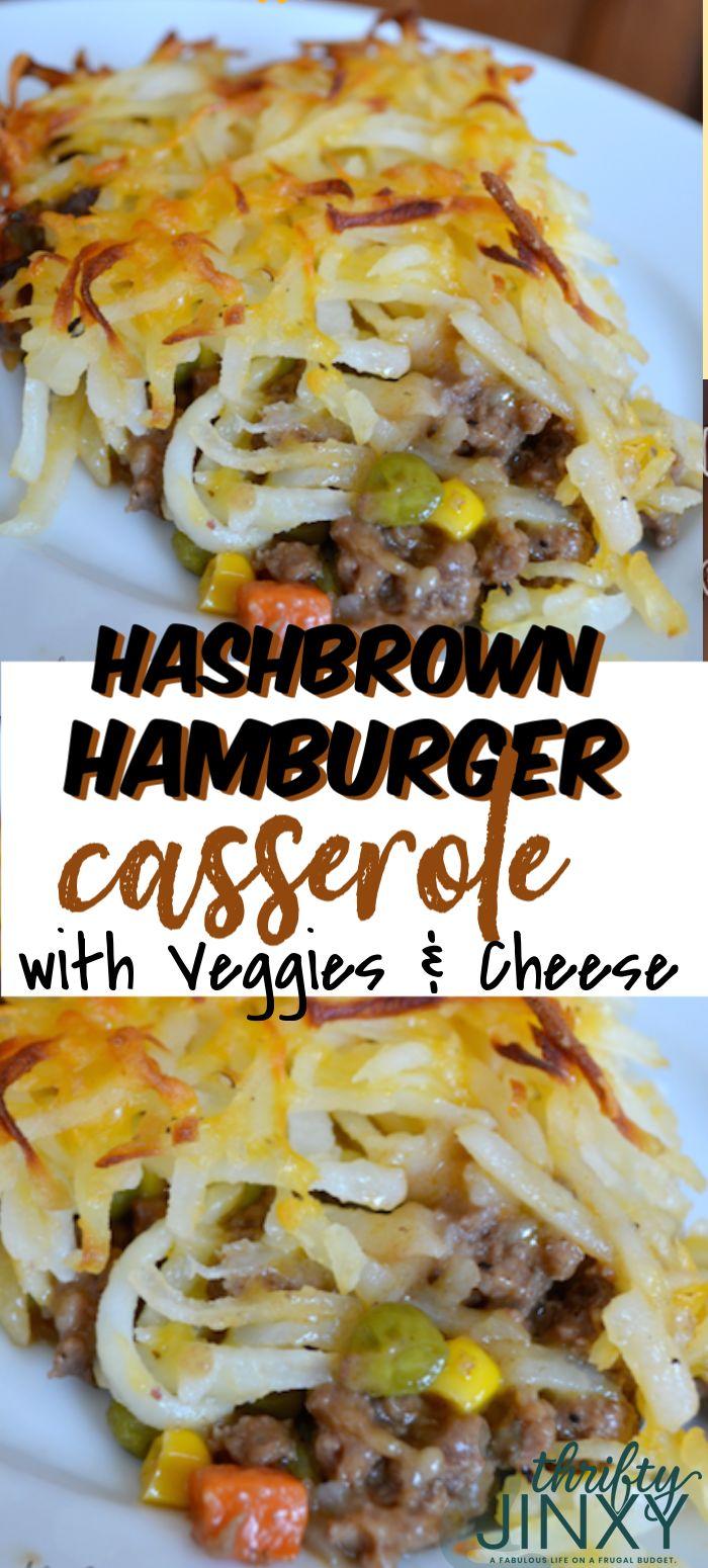 Questa casseruola di hamburger Hashbrown con verdure e ricetta di formaggio fa un eccellente …