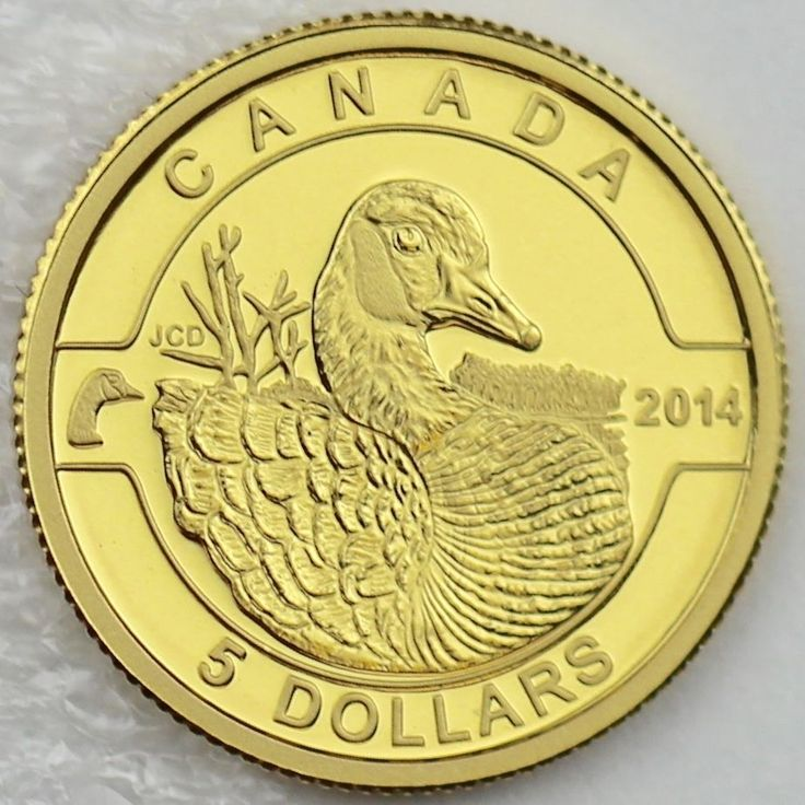 Canada 2014 $5 Canada Goose 1/10 Troy Oz. Pure Gold Proof Coin, O Canada #3