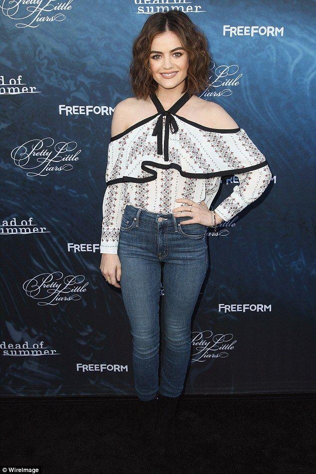 Seventh season: Lucy Hale attended the premiere party for season seven of Pretty Little Li...