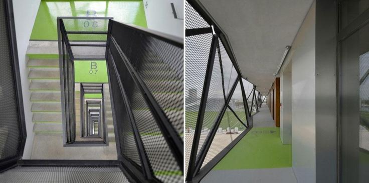 Ofis, Basket Apartments, Casa dello studente con 192 monolocali, Parigi, Francia 2012
