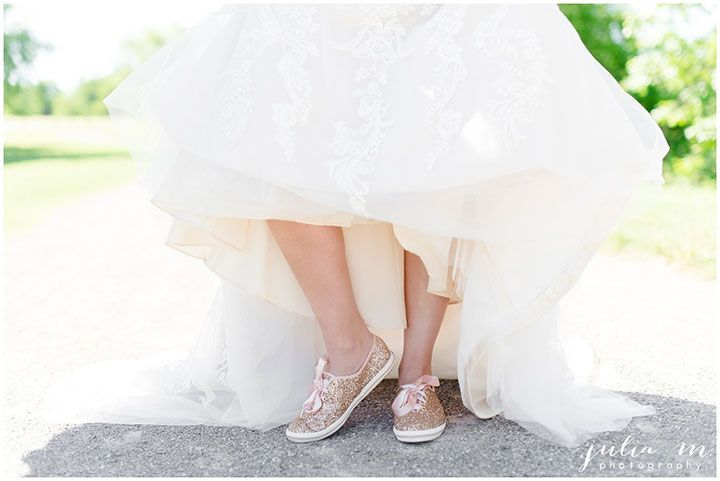 white keds wedding