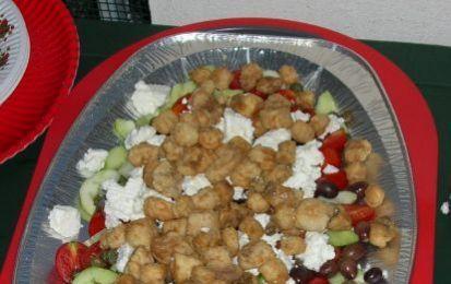 Pesce Spada all'Ivano - pesce spada, ricette-insalata, ricette-pesce, fetaSpada all'Ivano: insalata di verdure, feta e pesce spada fritto
