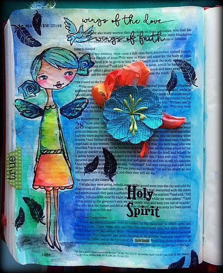 Faith is being sure of what we Hope for, being convinced of what we do not see. Hebrews 11:1 Flowers, bible verse and borders with a God's Girl to express how m
