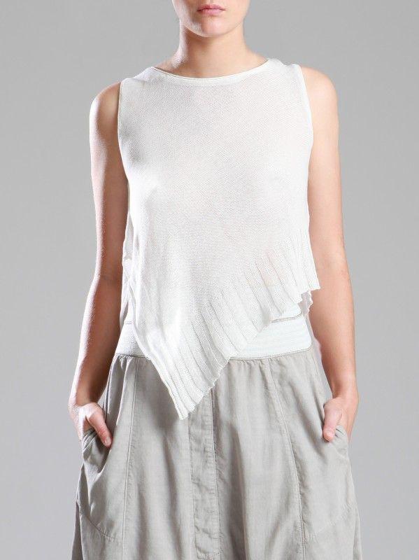 Knitted Transparent Cotton Top by LURDES BERGADA
