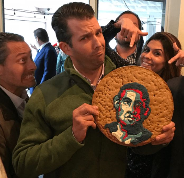 Donald Trump Jr. showing us just what a repulsive child he is.