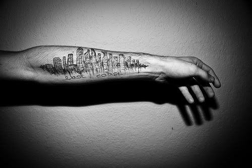 Definitely a piece for my nonexistent sleeve living for Cleveland skyline tattoo