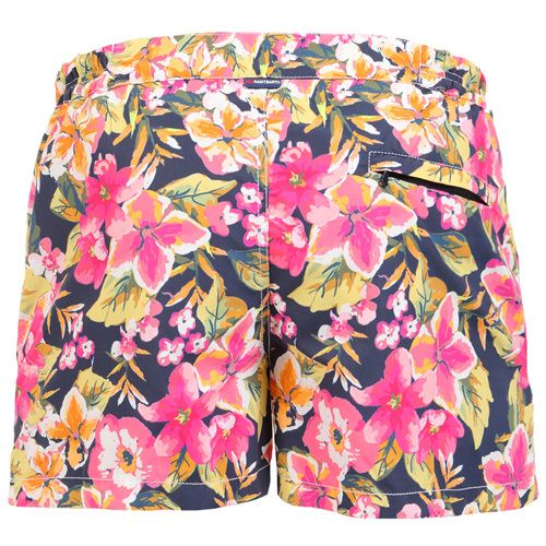 HARRYS SWIM SHORTS WITH FLORAL PRINT HARRYS Swim Shorts, with all-over floral print. Two side pockets. Small front pocket with Saint Barth embroidery on the flap, and concealed snap button. Zippered back pocket. MC2 Saint Barth brand patch on waist to the reverse. Zipper and magnetic closure with interior button. Semi-elastic waistband with elastic inserts at lateral side. Internal net. COMPOSITION: 100% NYLON. Model wears size M, he is 189 cm tall and weighs 86 Kg.