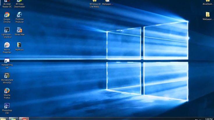 Windows 10 default Live Wallpaper Moving Background