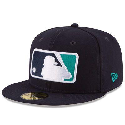 Men's Seattle Mariners Ken Griffey Jr. New Era Navy Logo 59FIFTY Fitted Hat