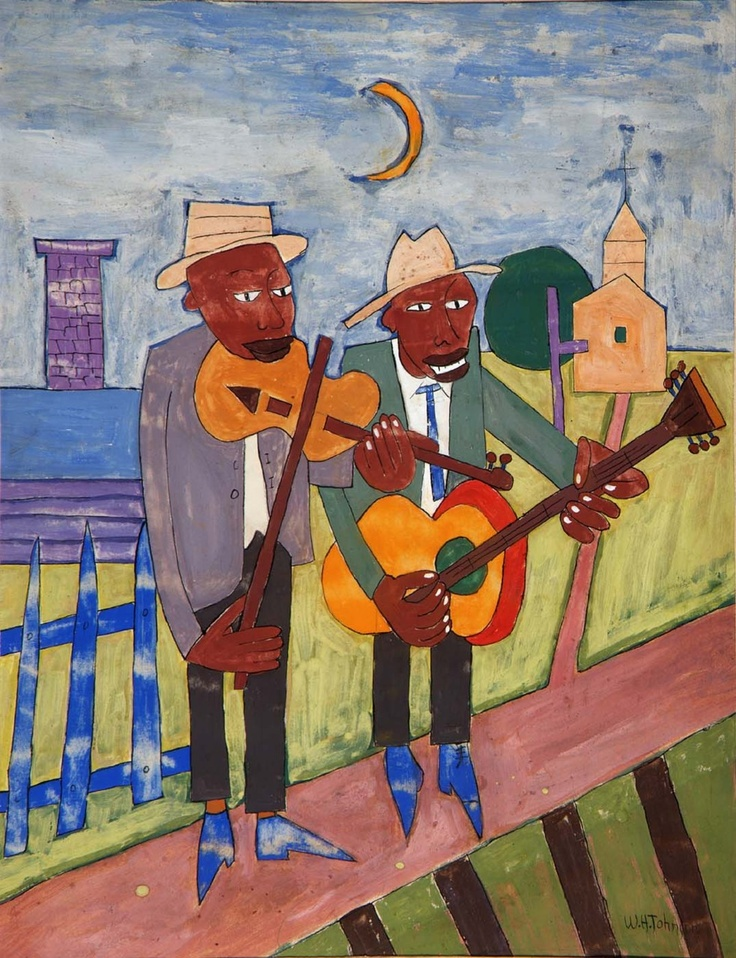 street musicians, William Johnson Folk Art, Inside Out