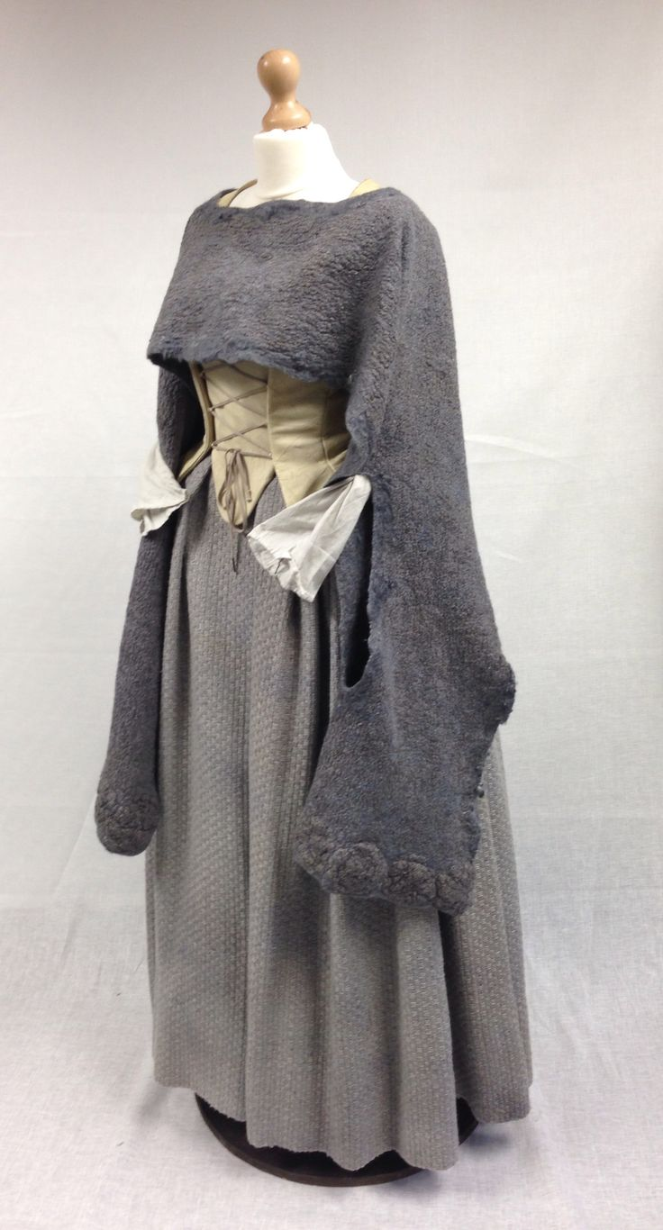 Is this cloak made of felted wool? How gorgeous this is! Another piece of historical knitting from Outlander.