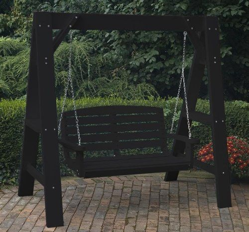 Build porch swing stand woodworking projects plans for White porch swing with stand
