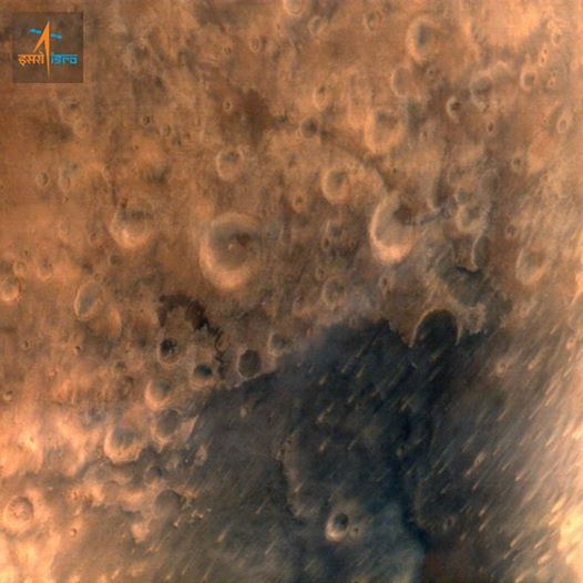 ISRO's MOM Mission Satellite Sends First Image of Mar: http://goo.gl/727H8k
