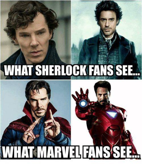 I See both :) So....Marvel or Sherlock board? Both. Both is good.