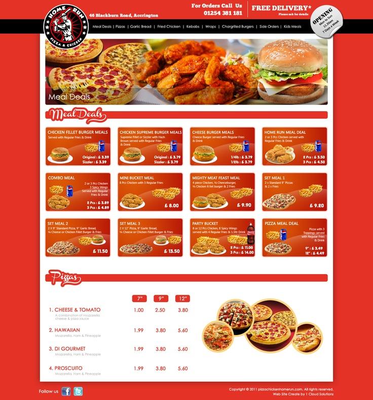 Web site designed for a restaurant