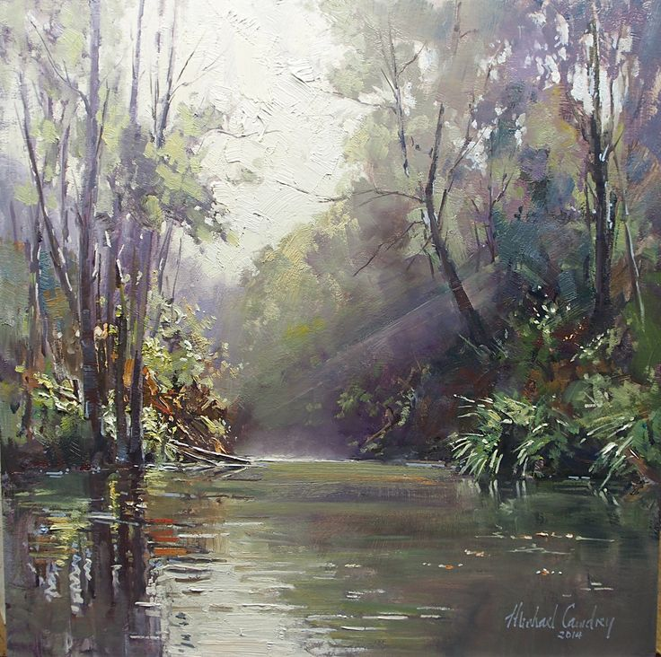 Morning Light Oil on timber panel Michael Cawdrey