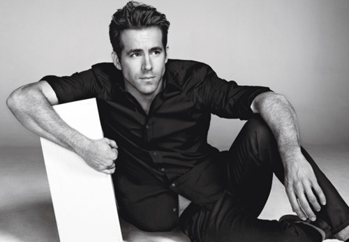 Ryan Reynolds : ) The only man my hubby doesnt get jealous of cause he is so damn funny