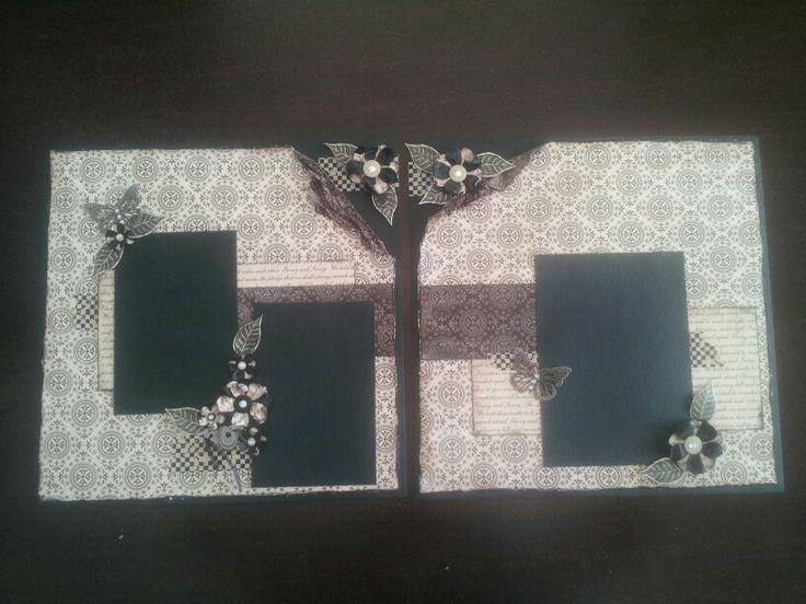 Kaszazz scrapbook layout