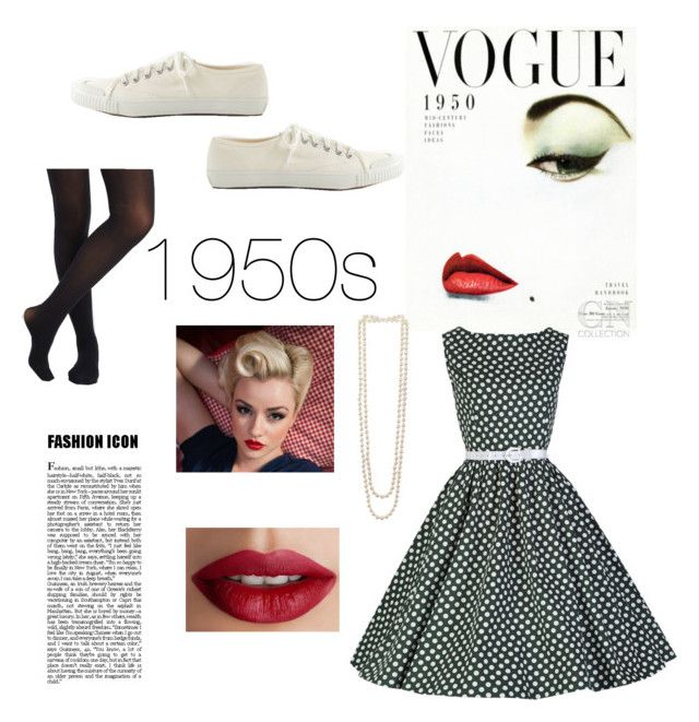"""1950s Look"" by elliehope88 ❤ liked on Polyvore featuring мода, Kenneth Jay Lane, TheBalm и J.Crew"