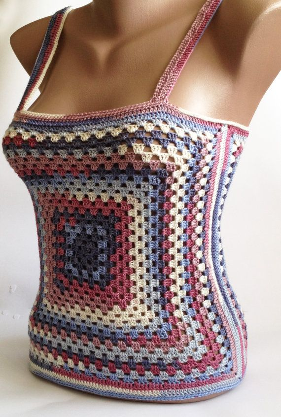 This is stylish Womens crochet sexy top. This is an original and unusual design. Youll be irresistible and sexy. Made with love. 100% handmade.