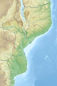 Map showing the location of Bazaruto National Park