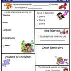 This classroom newsletter template is completely customizable.  2 full-color pages. The font used is Kristen ITC, and can be reformatted if you lik...